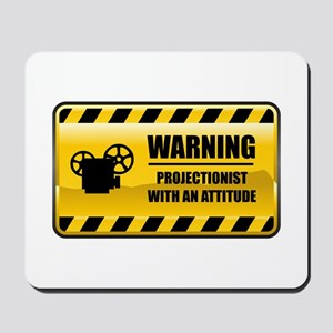 Warning Projectionist Mousepad