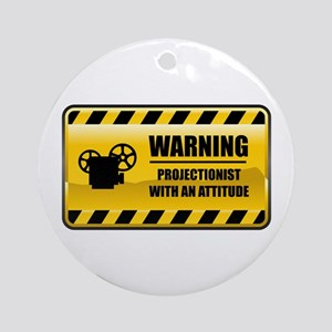 Warning Projectionist Ornament (Round)