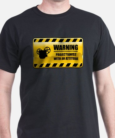 Warning Projectionist T-Shirt