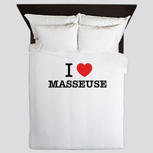 I Love MASSEUSE Queen Duvet