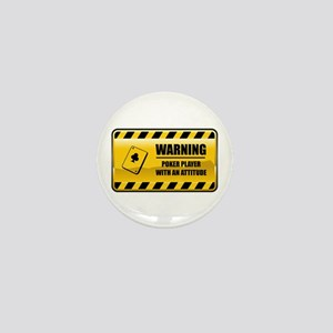 Warning Poker Player Mini Button