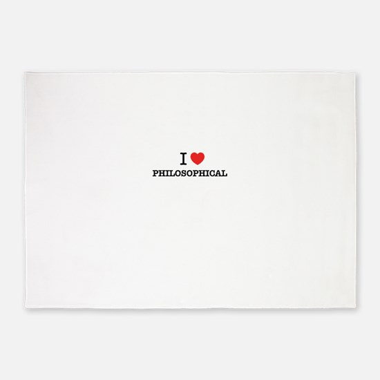 I Love PHILOSOPHICAL 5'x7'Area Rug