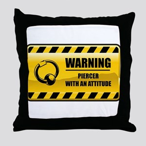 Warning Piercer Throw Pillow