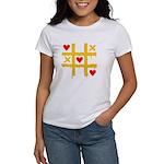 Tic Tac Toe of Love | Women's T-Shirt