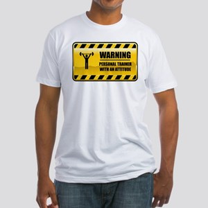 Warning Personal Trainer Fitted T-Shirt