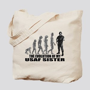 Evolution - My USAF Sis Tote Bag