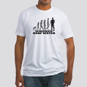 Evolution - My USAF Sis Fitted T-Shirt