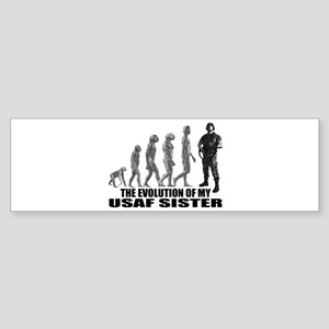 Evolution - My USAF Sis Bumper Sticker