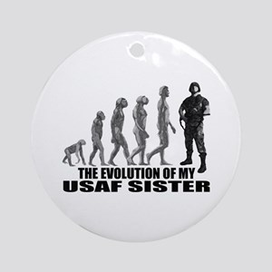 Evolution - My USAF Sis Ornament (Round)