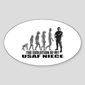 Evolution - My USAF Niece Oval Sticker