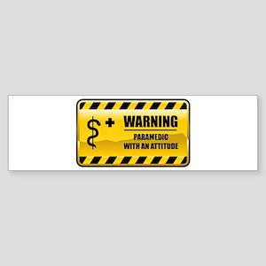 Warning Paramedic Bumper Sticker