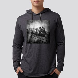 rustic vintage steam train Long Sleeve T-Shirt