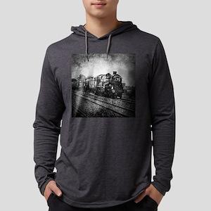 rustic vintage steam train Long Sleeve T-Shirt