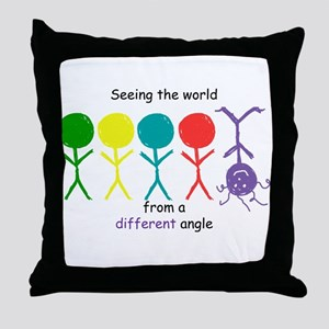 Seeing The World Throw Pillow