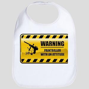 Warning Paintballer Bib