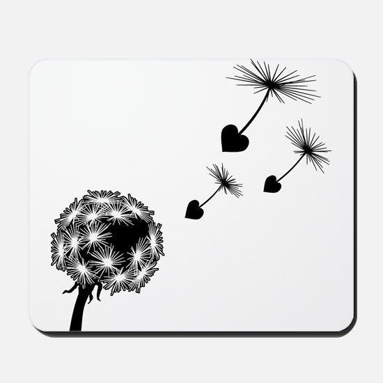 Dandelion Love Mousepad
