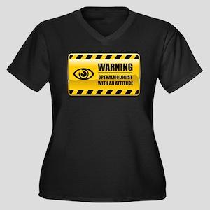 Warning Opthalmologist Women's Plus Size V-Neck Da