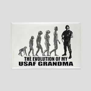 Evolution - My USAF Grndma Rectangle Magnet