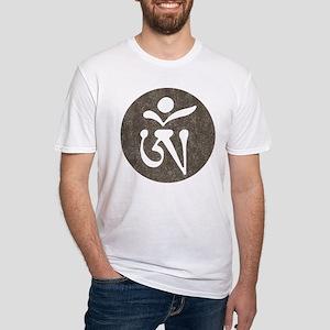 Tibetan Om Fitted T-Shirt