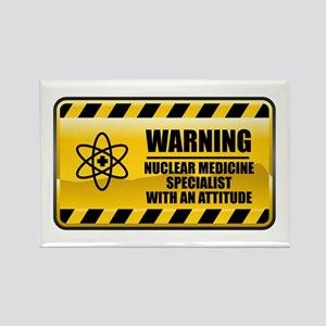 Warning Nuclear Medicine Specialist Rectangle Magn