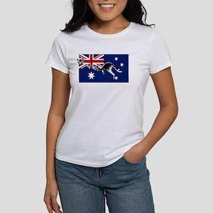 Australian Football Flag Women's Classic White T-S