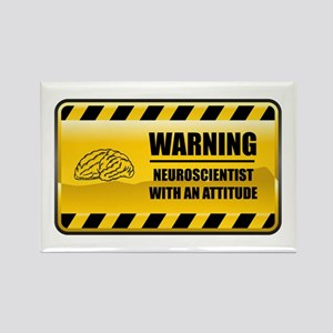 Warning Neuroscientist Rectangle Magnet