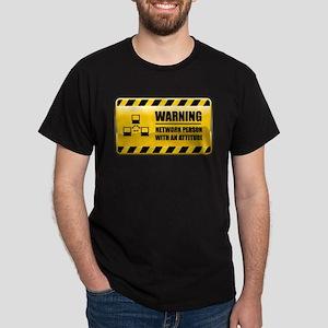 Warning Network Person Dark T-Shirt