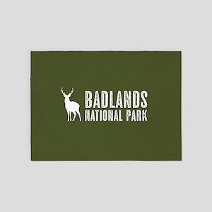 Deer: Badlands National Park, South 5'x7'Area Rug