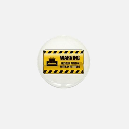 Warning Museum Person Mini Button