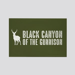 Deer: Black Canyon of the Gunniso Rectangle Magnet