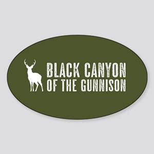Deer: Black Canyon of the Gunnison, Sticker (Oval)