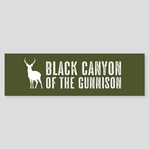 Deer: Black Canyon of the Gunniso Sticker (Bumper)