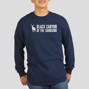 Deer: Black Canyon of the Long Sleeve Dark T-Shirt