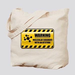 Warning Molecular Biologist Tote Bag