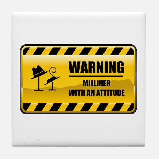 Warning Milliner Tile Coaster