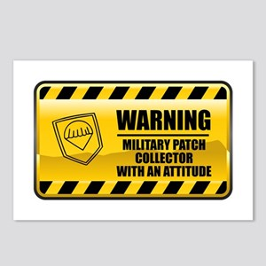 Warning Military Patch Collector Postcards (Packag