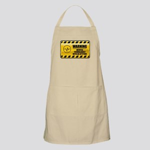 Warning Medical Technologist BBQ Apron