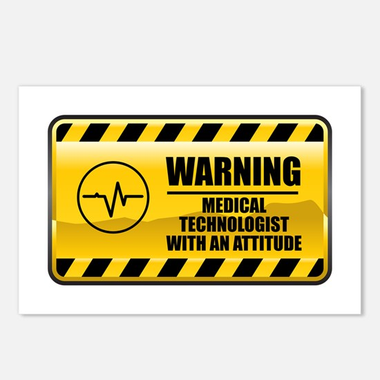 Warning Medical Technologist Postcards (Package of