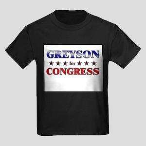 GREYSON for congress Kids Dark T-Shirt