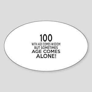 100 Awesome Birthday Designs Sticker (Oval)