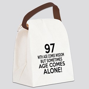 97 Awesome Birthday Designs Canvas Lunch Bag