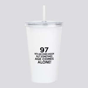 97 Awesome Birthday De Acrylic Double-wall Tumbler