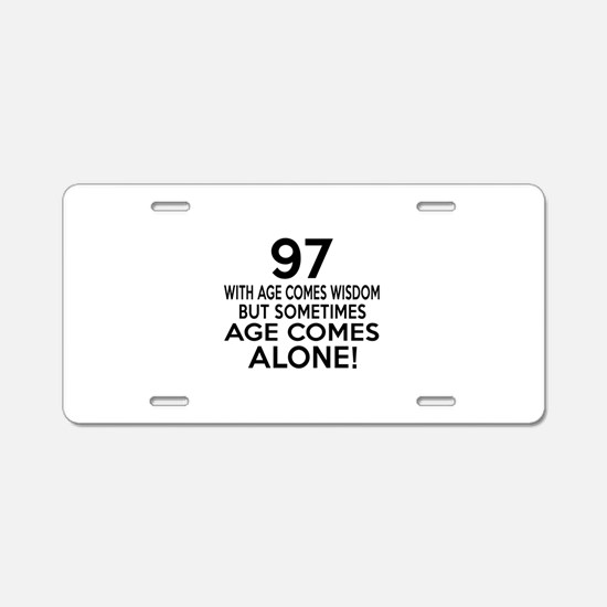 97 Awesome Birthday Designs Aluminum License Plate