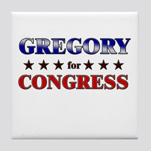 GREGORY for congress Tile Coaster