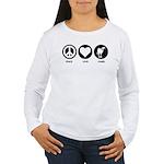 Peace Love Camel Women's Long Sleeve T-Shirt