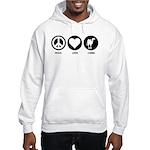 Peace Love Camel Hooded Sweatshirt