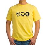 Peace Love Camel Yellow T-Shirt