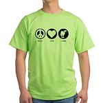Peace Love Camel Green T-Shirt