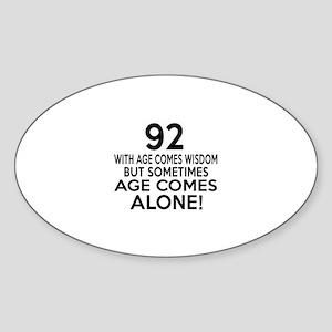 92 Awesome Birthday Designs Sticker (Oval)