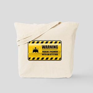 Warning Marine Engineer Tote Bag
